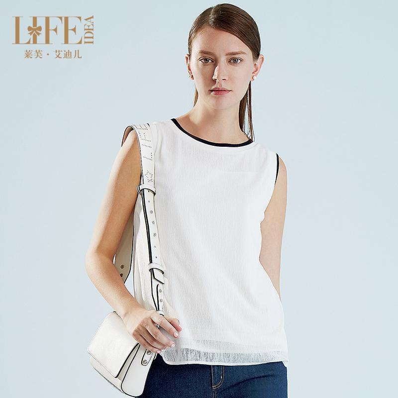 [支持深圳自提]LIFE·IDEA/莱芙·艾迪儿新品圆领拼接百搭无袖背心1B2112028